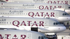 Line up of Qatar Airways A320s