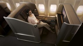 Singapore Airlines' new first class, available on the B777-300ER
