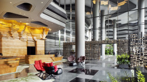 Parkroyal on Pickering Hotel lobby