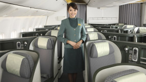 EVA Air business class flight attendant
