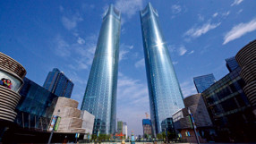 SOM twin towers Nanchang, China