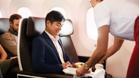 Virgin Atlantic Boeing 787-9 Dreamliner Premium Economy in-flight meal