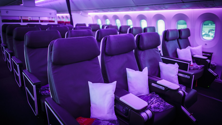 Virgin Atlantic Boeing 787-9 Dreamliner Premium Economy cabin