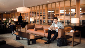 Seating area at The Pier business class lounge