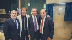 The Opening of the Intercontinental O2 with guests L-R Thomas Miserendino, Sir Cliff Richard, Richard Solomans, Surinder Arora_