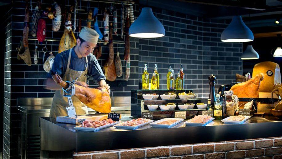 Mangalica Hungarian ham at Play T, Park Lane a Pullman Hotel