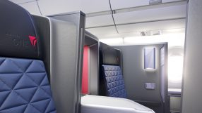 Delta One suite – seat closeup