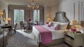 Mandarin Oriental London bedroom