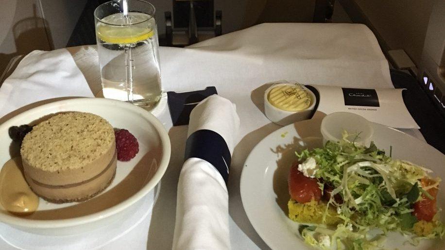 British Airways meal on B777-200 Club World