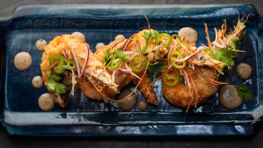 Black Roe prawn tempura