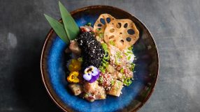 Black Row poke dish