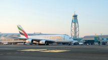 Emirates A380 aircraft at Dubai International