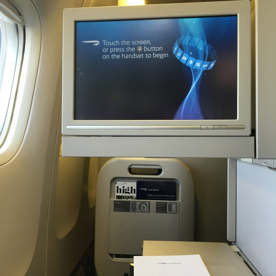 British Airways B777-200 Club World