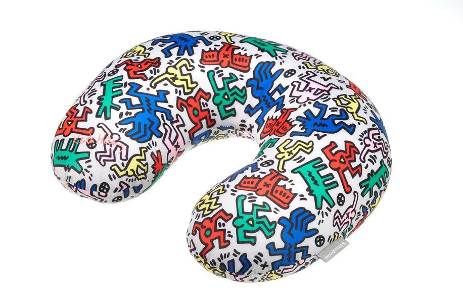 Keith-Haring-Travel-Pillow