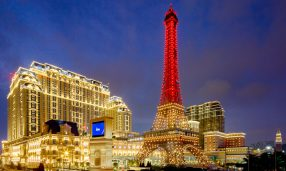 The Parisian Macao exterior with Eiffel Tower