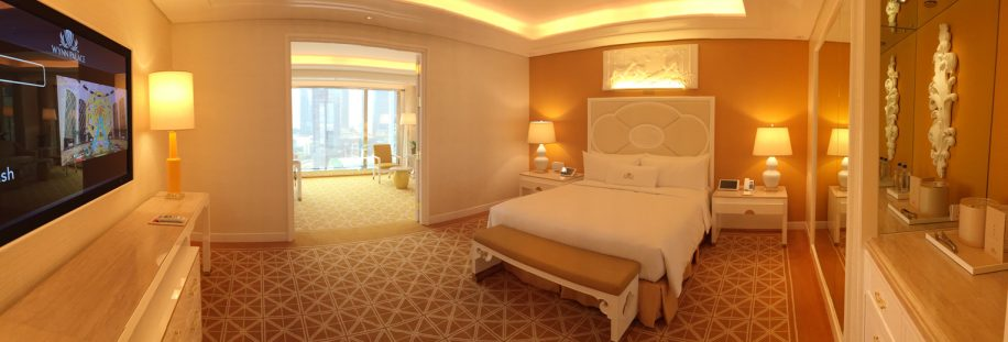 Wynn Palace Macau Fountain suite in yellow