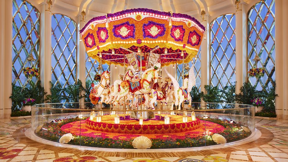Wynn Palace_ Carousel Floral Sculpture by Preston Bailey