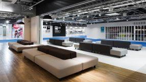 Comfortable sofas replace plastic seats in Tokyo Narita Airport's Terminal 3