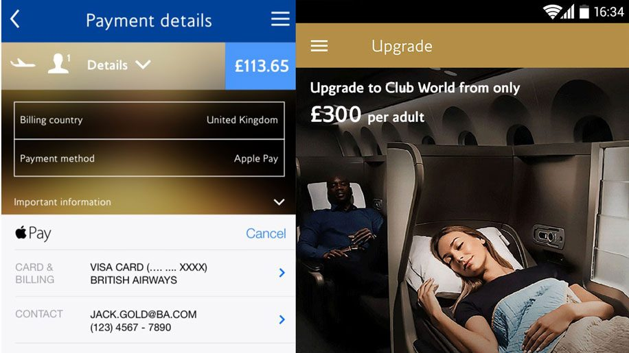 British Airways Apple Pay