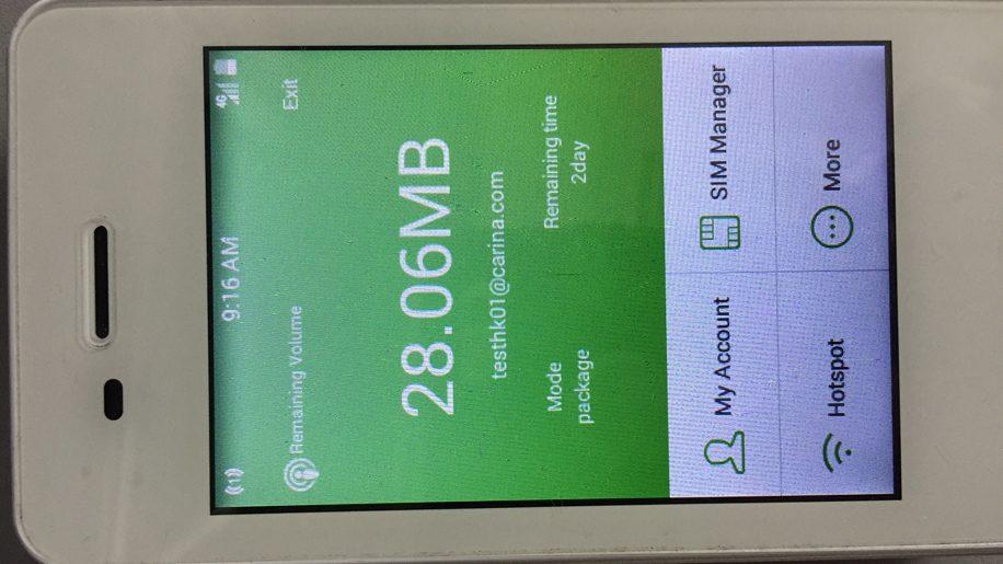 GlocalMe G2 screen view