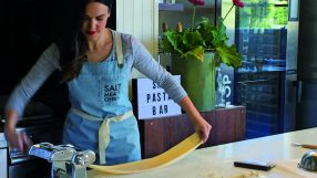 Making pasta at Salt Meat Cheese in Sydney