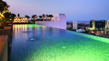 Infinity pool at the Somerset Greenways Chennai