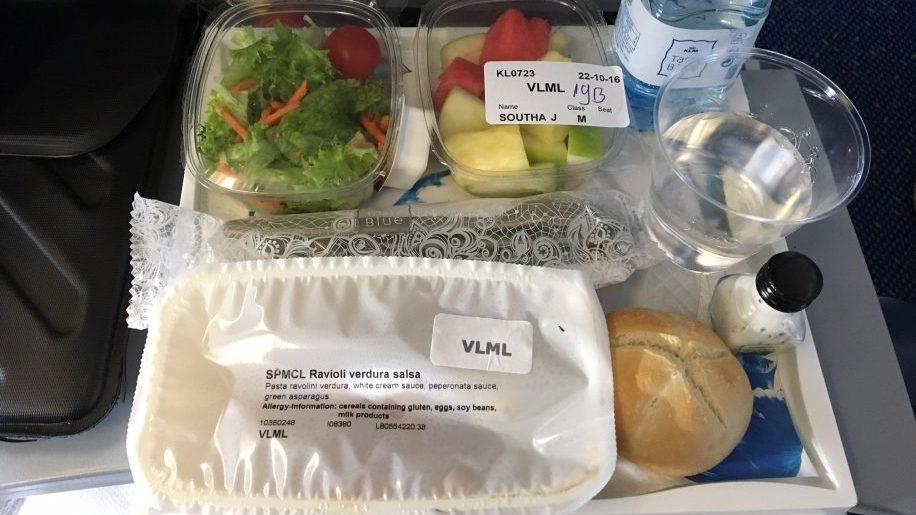KLM economy class food