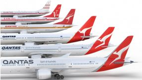 Qantas' logo and livery over the years