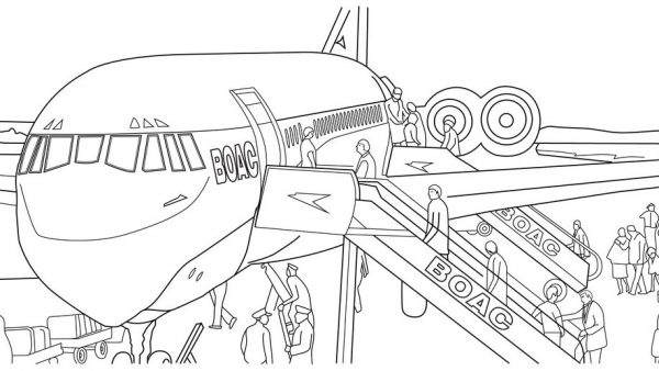 British Airways: A Colouring Book