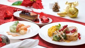 Emirates' first class festive in-flight menu