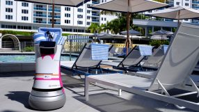 Aloft's Botlr pictured in residence at the Aloft South Beach Miami