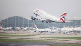 British Airways B747 at Heathrow airport