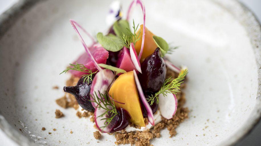 Peninsula Restaurant - Heritage Beetroots, Rye Soil, Ragstone Goat's Cheese