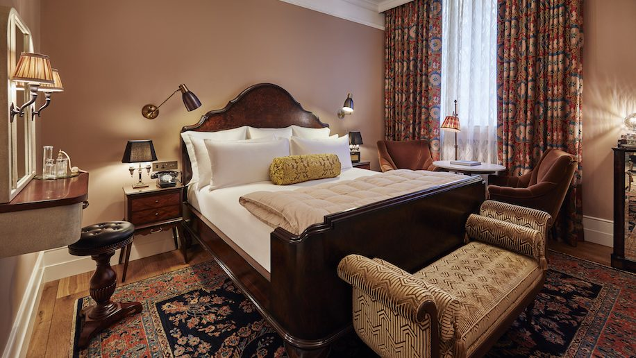 A guest room at The Ned in London