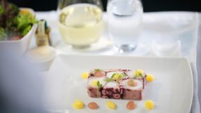Cathay Pacific and Tosca menu collaboration - octopus terrine