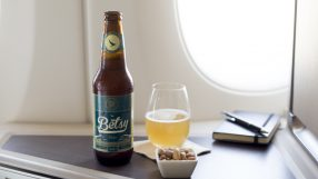 Cathay Pacific draft beer Betsy