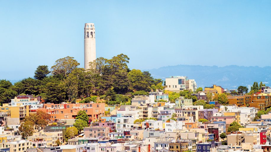 San Francisco USA Telegaph hill and Coit Tower