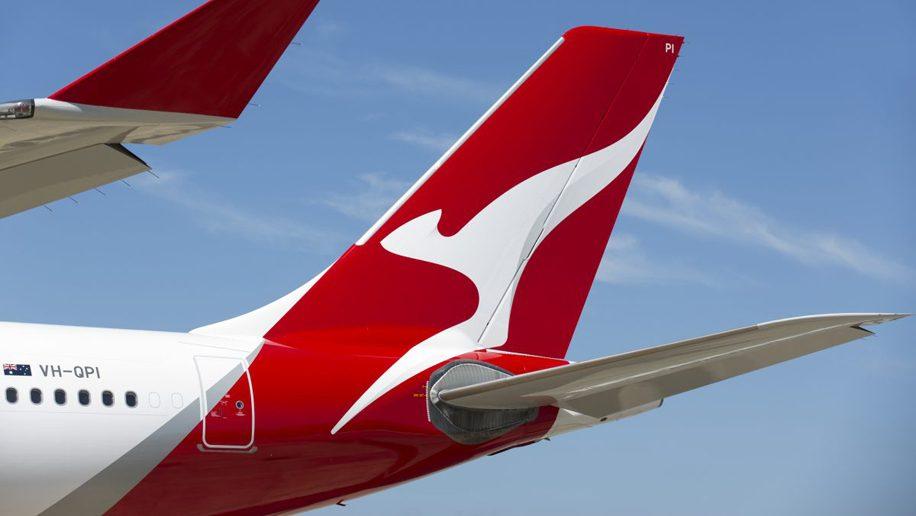 Qantas tailfin logo