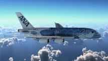 ANA A380 sea turtle livery