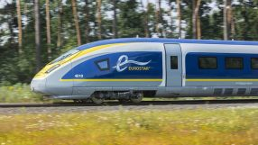 Eurostar in countryside