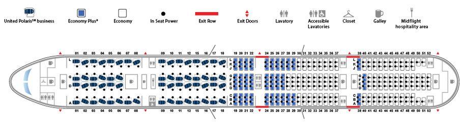 United B777-300ER seatplan