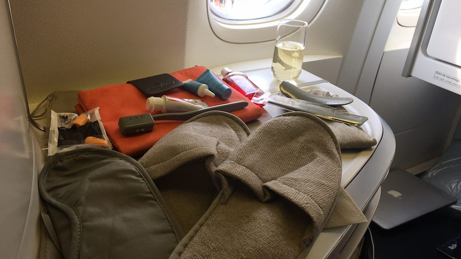 Air France business class amenity kit