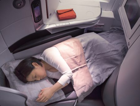 Air France business class fully flat bed B777-300ER