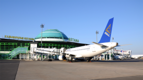 Air Astana A320 at Astana Airport