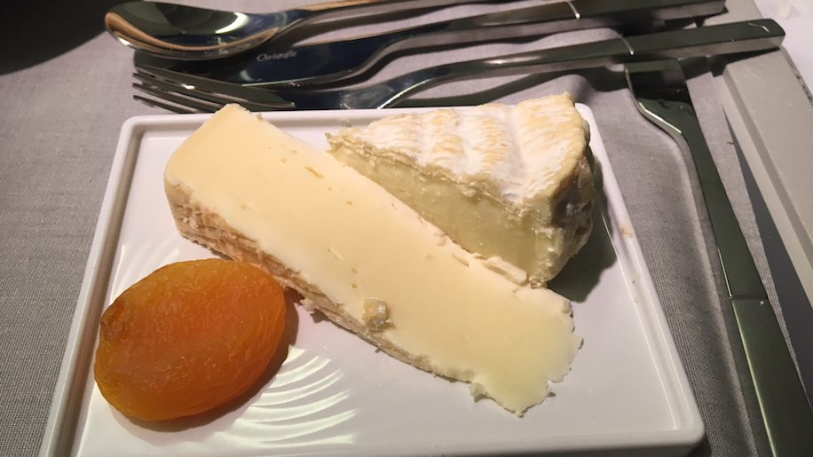 Air France business class cheese