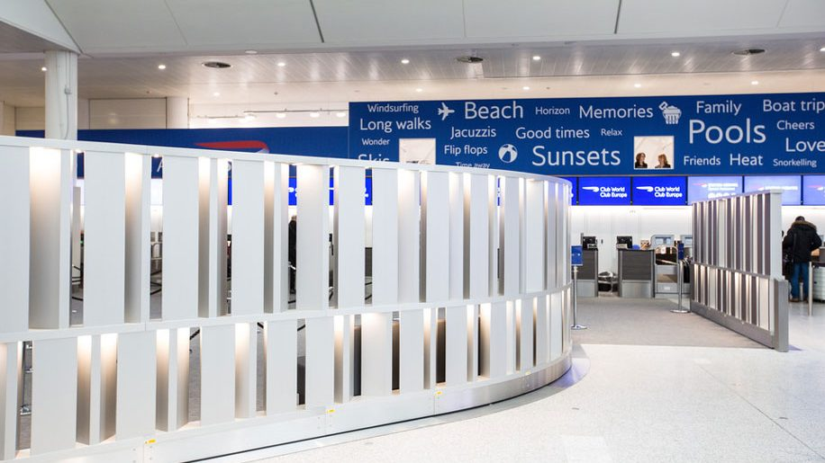 British Airways check-in area at Gatwick airport