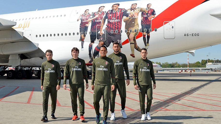Emirates AC Milan-themed A380
