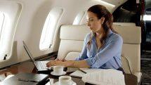 Private jet cabin