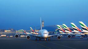 Emirates aircraft at Dubai International