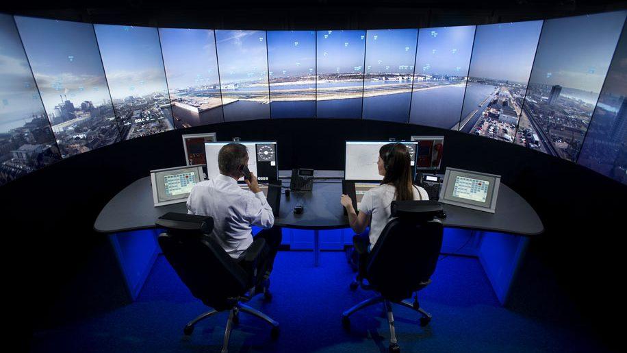 London City airport digital air traffic control tower